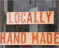local handmade sign
